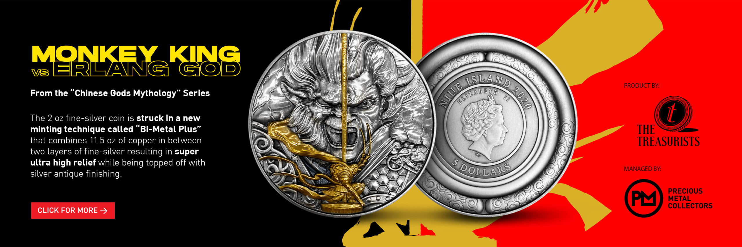 Monkey King vs Er Lang Shen 2 oz Silver Coin