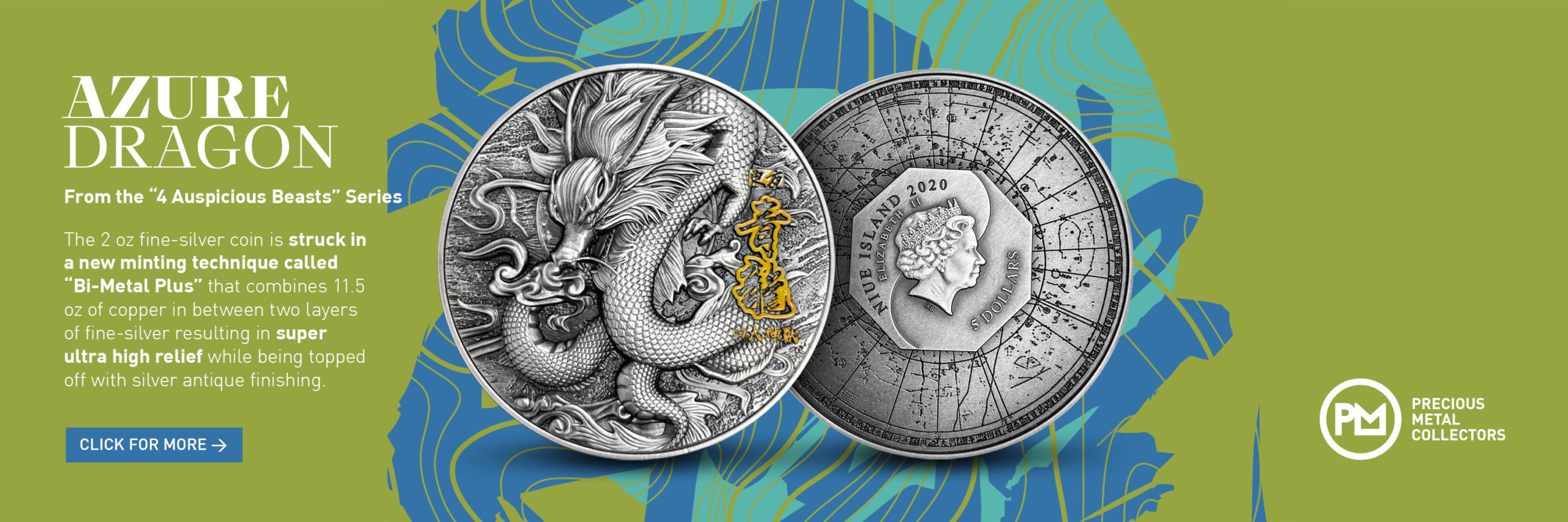 Azure Dragon 2 oz Silver Coin