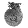 2022 Chinese Dragon Egg 2 oz Pure Silver Coin Obverse